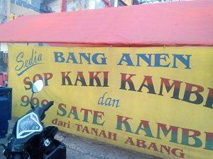 Sop Kaki Kambing Bang Anen