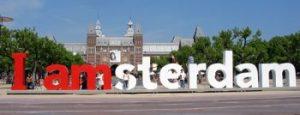 "Patung tulisan ""I amsterdam"""
