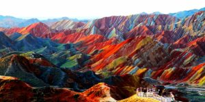 Gunung pelangi zhangye Danxia