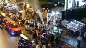 Penjual kaki lima di Ratchadamri